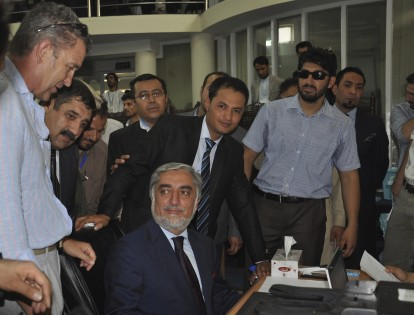 A brief word with Abdullah at the start of his presidential campaign.