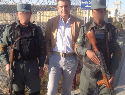 The ever present AK-47, this time in the hands of the Afghan Police