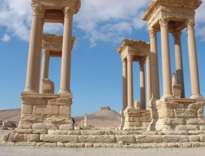 Palmyra, Syria, Fakhr-al-Din al-Maani Castle in the background