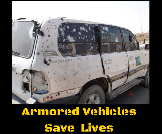 Armored Vehicles Save Lives.