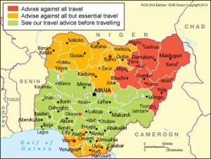 It's rare that a whole country is designated with the same level of risk. Take Nigeria for example; although there is a problem with terrorism in the north from Boko Haram, the main threat in the south is related to criminality.