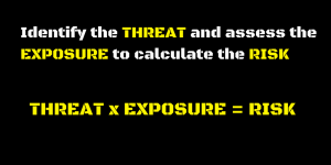 Identify the THREAT and assess the