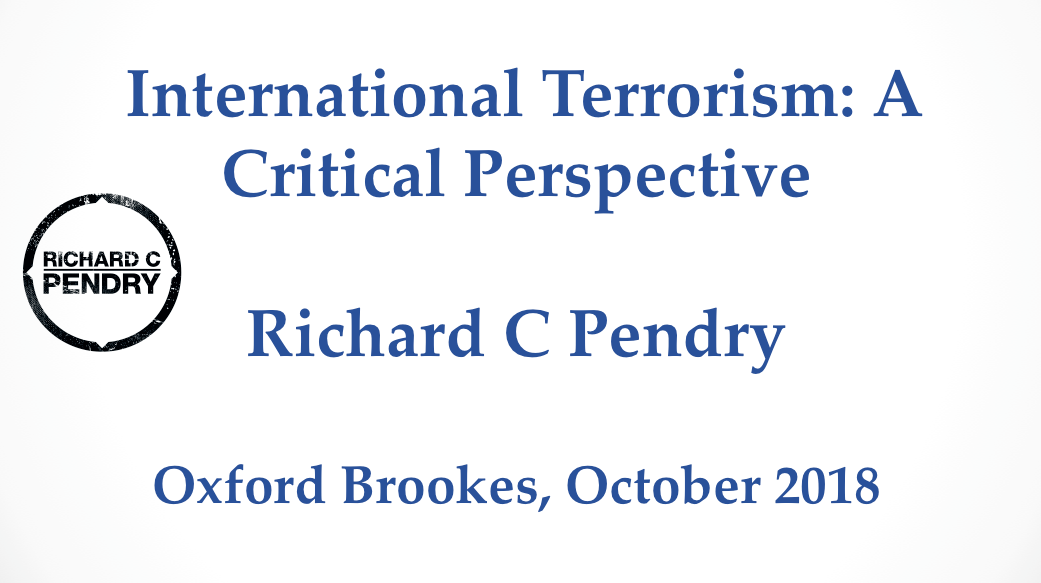 International Terrorism: A Critical Perspective